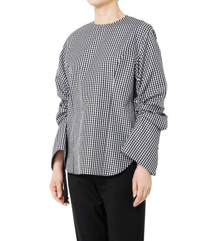 ルシェルブルー/LE CIEL BLEU - ギンガムチェックドローストリングシャツ-BLACK(シャツ/shirt)   RESTIR リステア