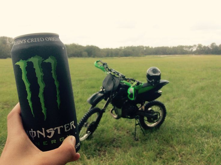 Monster energy drink w/ the dirtbike