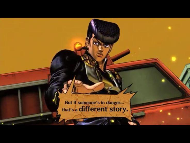 screenshot Josuke Higashikata of the videogame Jojo's All Star Battle