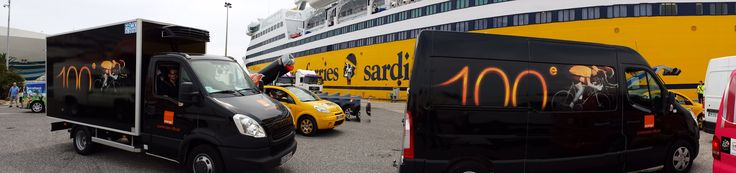Tour de France 2013 : Transfert des véhicules  vers le départ en Corse - Embarquement à Toulon #tdf