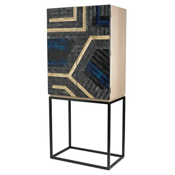 Lawson Robb Revelry drinks cabinet with doors by Violeta Galan | How To Spend It