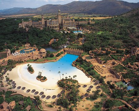 The Beach and Wave Pool :-)   Sun City Resort  Sun City, North West Province, South Africa