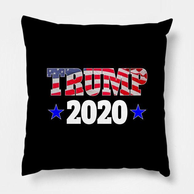 best pillow 2020 USA Trump 2020 Blue Stars   Trump 2020 Flag American   Pillow