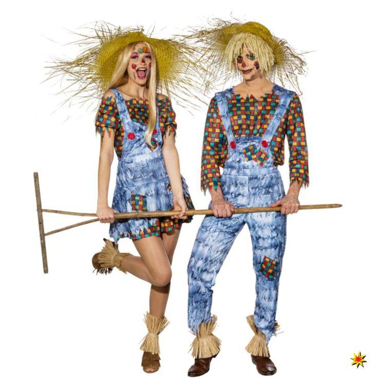 Partner Kostüm Vogelscheuche für Fasching und Mottoparty