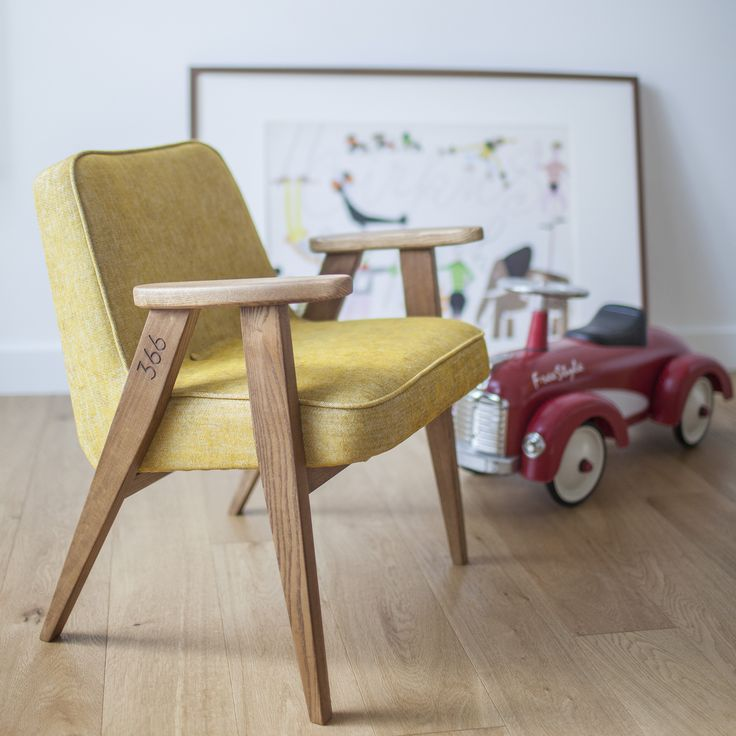 366 Junior Chair in Mustard colour - LOFT collection, arranged photo.