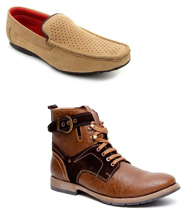 Bacca Bucci Combo Of Appealing Brown Boots and Loafers Visit Us @ http://www.snapdeal.com/
