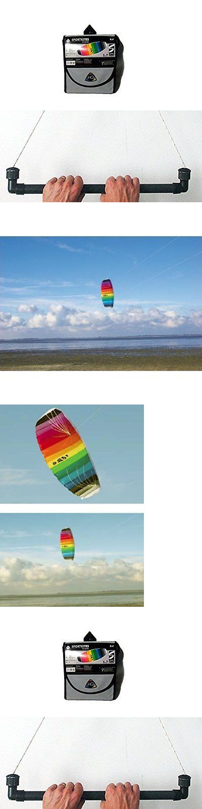 Kites Lines 114264: Hq Trainer Power Kite 1.7 W Control Bar Symphony Beach -> BUY IT NOW ONLY: $87.15 on eBay!