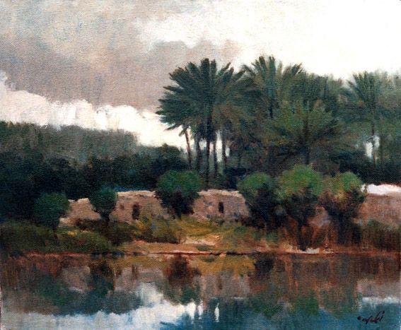 raad al adham - Degla's river - oil - 2011 .