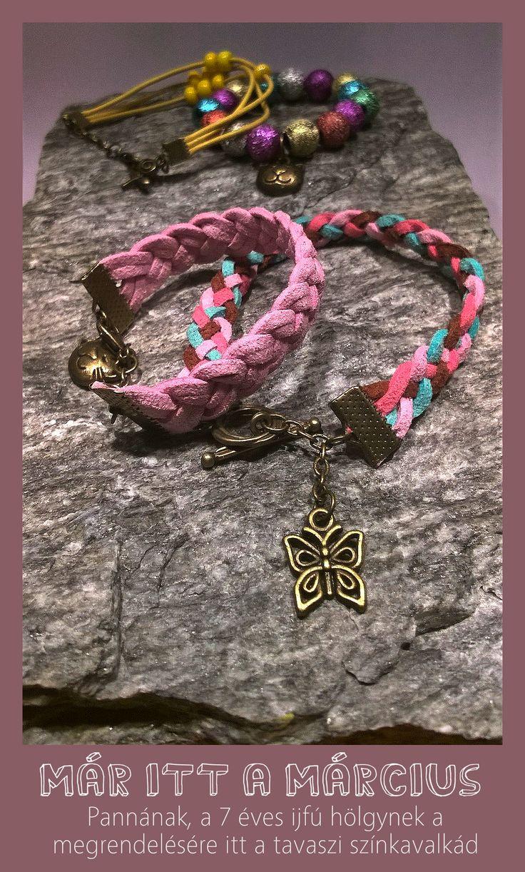 fonott színes karkötők