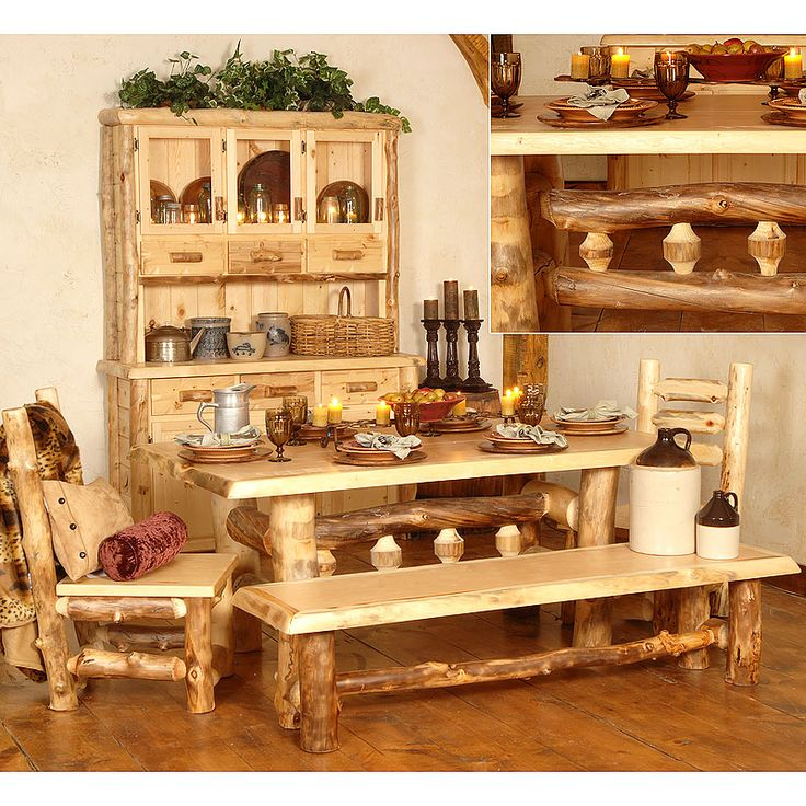148 Best Log Furniture Images On Pinterest  Carpentry Log Mesmerizing Silver Creek Dining Room Inspiration
