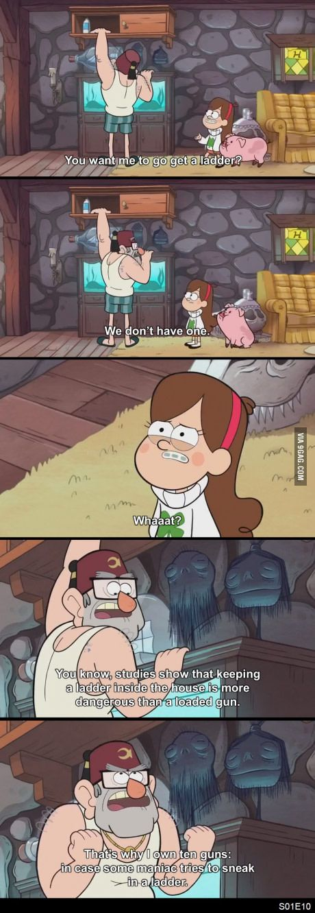 I think Gravity Falls hit the USA gun situation's nail on the head.