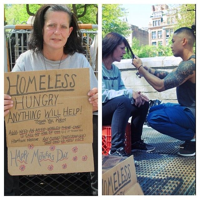.Good Guy Mark Bustos is a barber in NYC that spends his free time giving the homeless in the city free haircuts.