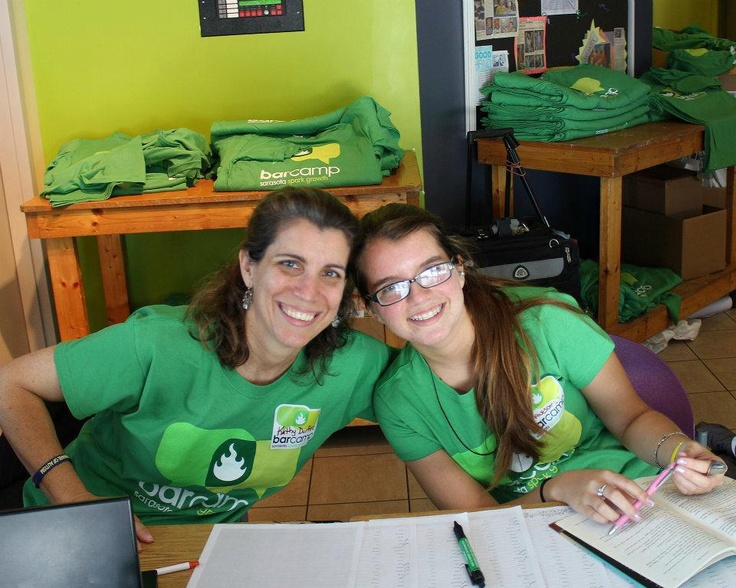 Kathy Durfee from TechHouse volunteers with her daughter at our Spring 2012 event and is a supporter through their generous sponsor contributions.