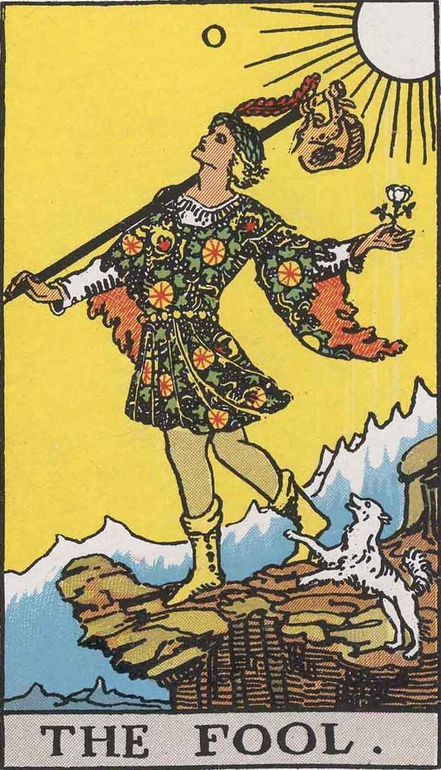 Weird that he found them.. Then I felt the need to explain. Is it too weird that I have them?                                      The Fool - Rider Waite Tarot Card Deck  Article by Tony Fox Tarot