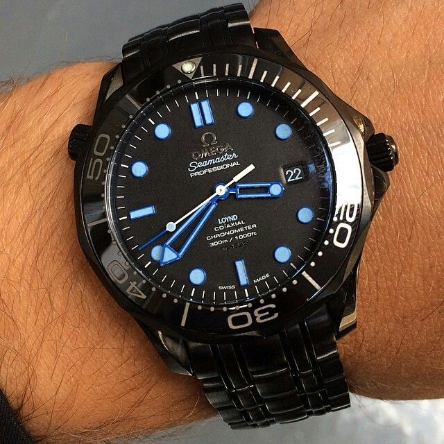 Custom 1 1 Omega Seamaster From Titan Black Dream