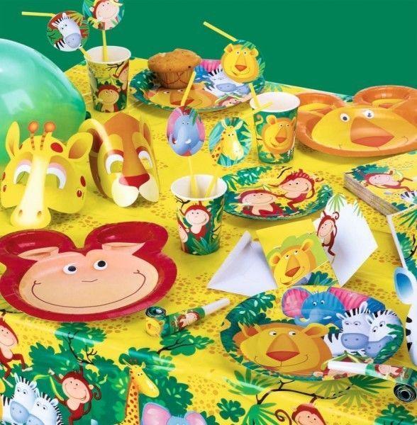 Safari party decoraci n de cumplea os jungle ni os - Fiesta de cumpleanos en casa para ninos ...
