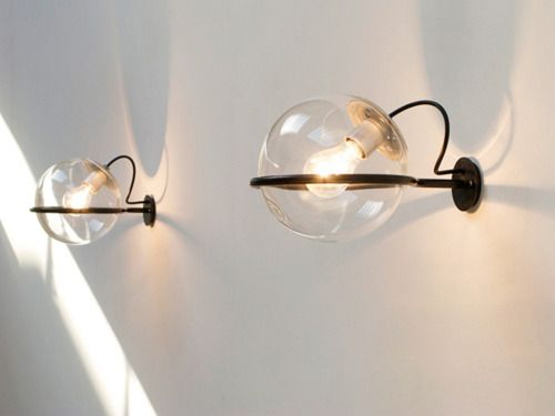 Gino Sarfatti - Wall lamps for Arteluce, 1960 - So weird and minimalist - I love them so much. Ikea or someone, please make cheap reproductions of these fast so I can have like 20 of them.