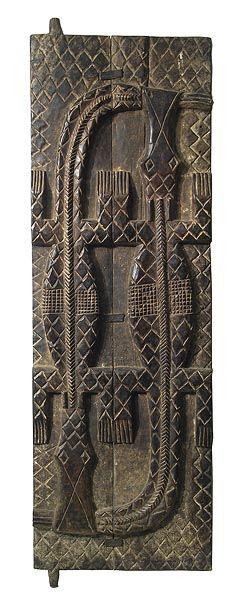Africa | Carved wooden Baule door, Ivory Coast  | © Tim Hamill