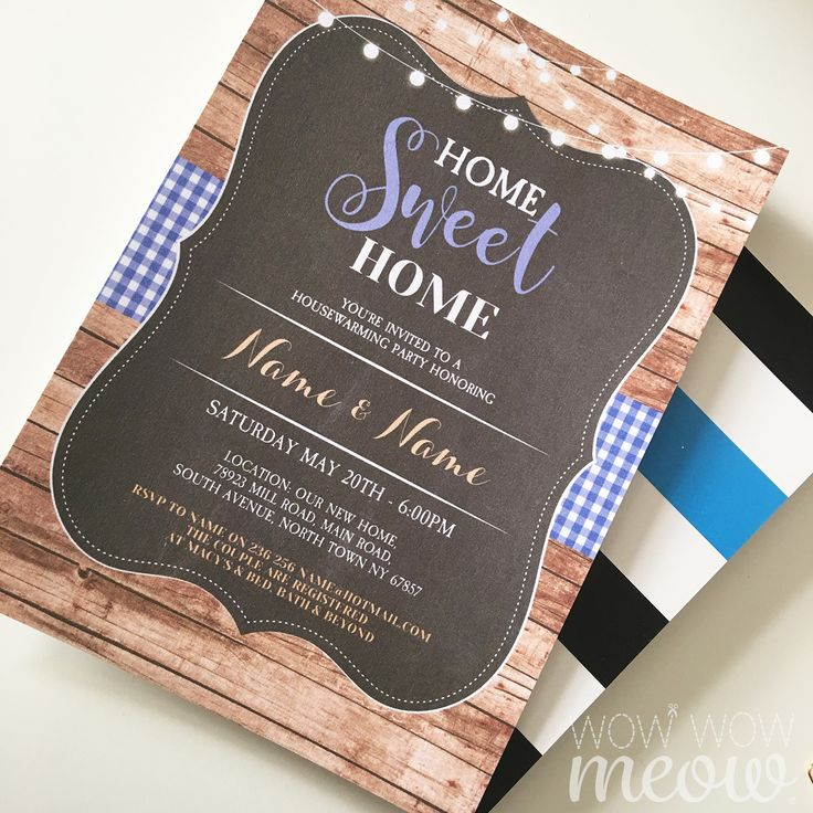 Printable Instant Download Invitations from Wow Wow