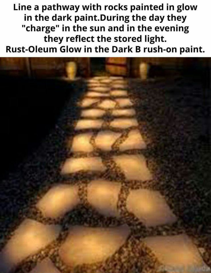 How to light the path to the barn! Glow in the dark paint on paving stones! Love this!