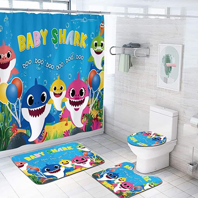 18++ Shark bathroom decor info