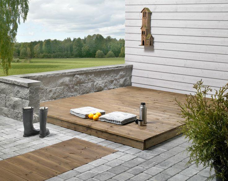 En perfekt terrasse med grå Kongsgråd.