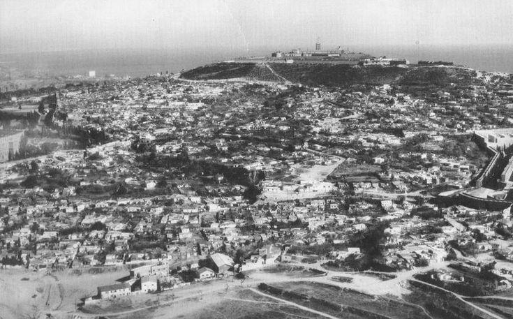 Barracas de Montjuïc año 1950. Històries de Viatger: Barcelona antigua