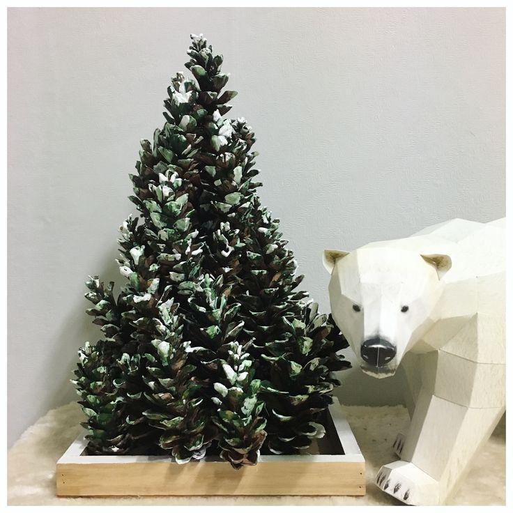Making christmas tree #handmade #christmastree #strobile