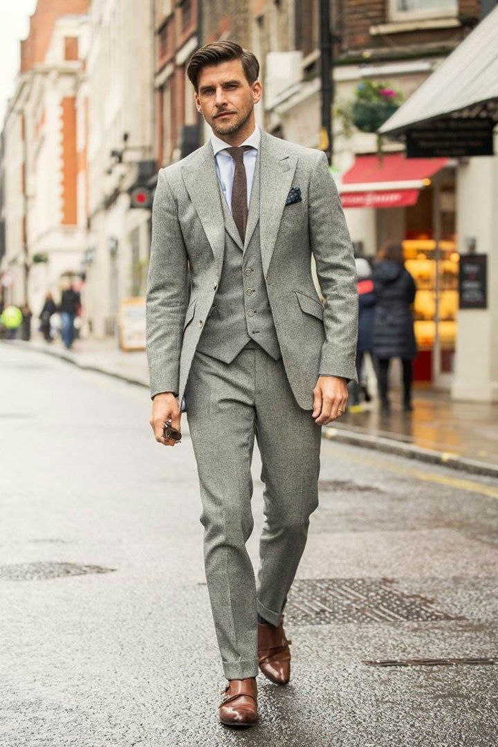"""iqfashion: """" Johannes Huebl Suit: Marc Anthony Tailoring; Shirt: Hackett; Tie & Pocket Square: Brunello Cucinelli; Shoes: Russell & Bromley. Source: GQ UK - What Johannes Huebl is wearing for LCM A/W..."""