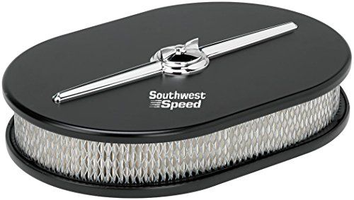"NEW BILLET SPECIALTIES STREAMLINE BLACK ALUMINUM SMALL OVAL AIR CLEANER ASSEMBLY, 11 7/8"" LONG X 8 3/8"" WIDE X 3"" TALL WITH K&N LIFETIME FILTER ELEMENT & STAINLESS STEEL HARDWARE Southwest Speed http://www.amazon.com/dp/B00XWPIN22/ref=cm_sw_r_pi_dp_uojxvb01R70MS"