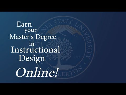 Master of Science In Instructional Design & Technology   Offering a 100% Online Master's in Instructional Design and Technology Program   College of Education at California State University Fullerton