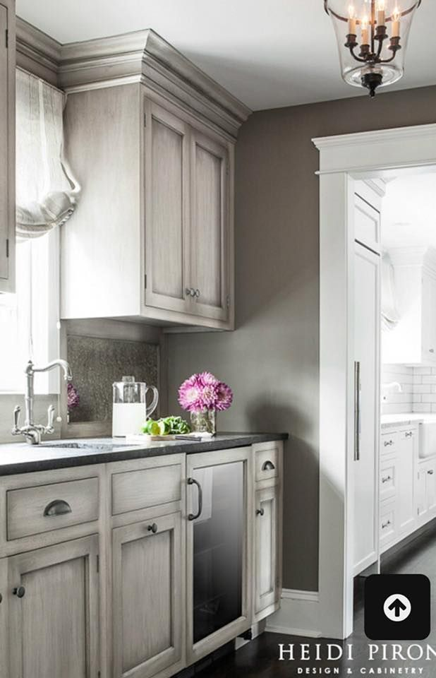 French Linen Or Paris Gray With Ow Wash Or Reverse Kitchen Cabinets Painted Grey Grey Kitchen Designs Kitchen Renovation