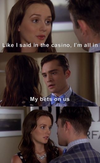 Chuck and Blair. Season 6 Episode 1. Love this!