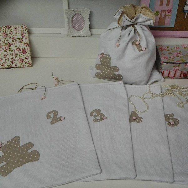 Saquinhos de tecido para maternidade