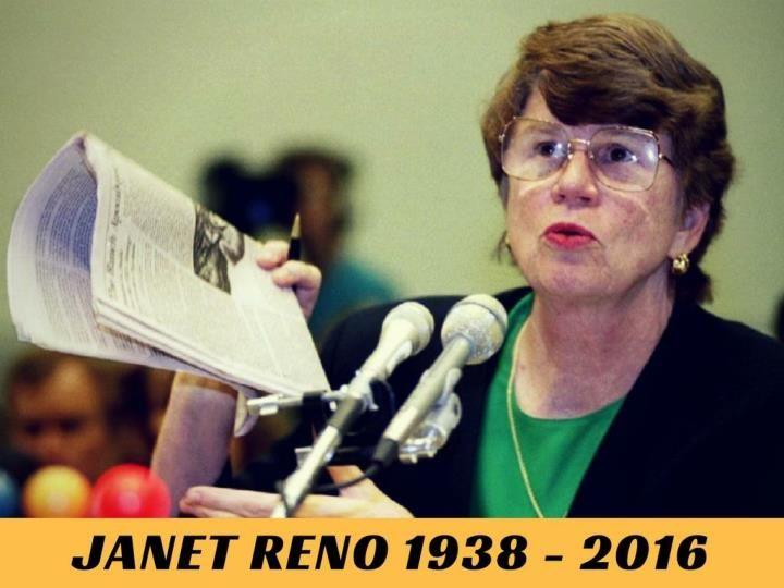 Janet Reno, first U.S. woman attorney general, dies aged 78.