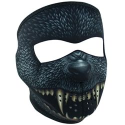 Light weight and totally cool neoprene full motorcycle face mask in a Silver Bullet Monster with Velcro closure. One size fits most.
