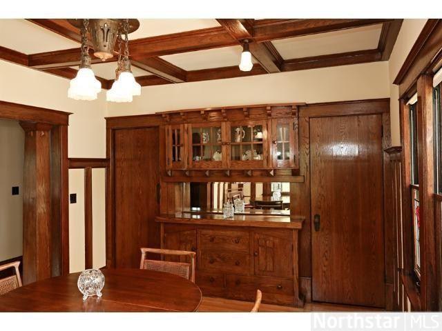 bungalow dining room   1913 Bungalow dining room built in buffet- Minneapolis, MN ...