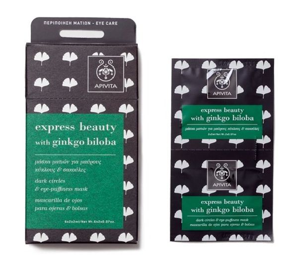 An eye mask that actually works :: Apivita Express Beauty with Gingko Biloba