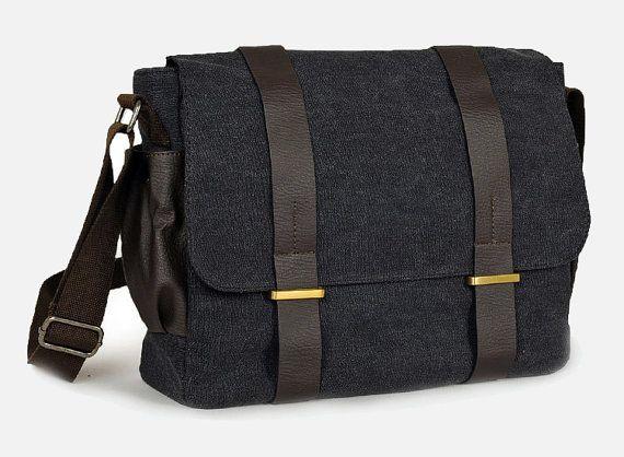 Canvas shoulder bag  / Briefcase / Backpack / Messenger / Laptop / Men's Bag / Women's bag / travel bag / handbag / shoulder bag--T040