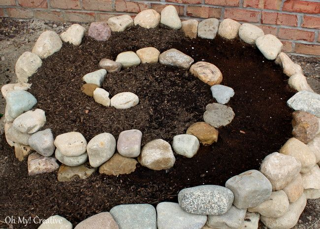 Hometalk : How to Create a Small Garden Using a Garden Spiral - this would be great for a strawberry garden or herb garden!