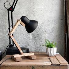 Резултат с изображение за Wooden Desk Lamp Handmade