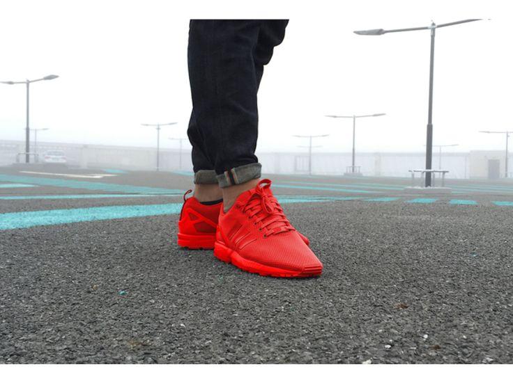 best service 0e1b3 95402 adidas zx flux triple red