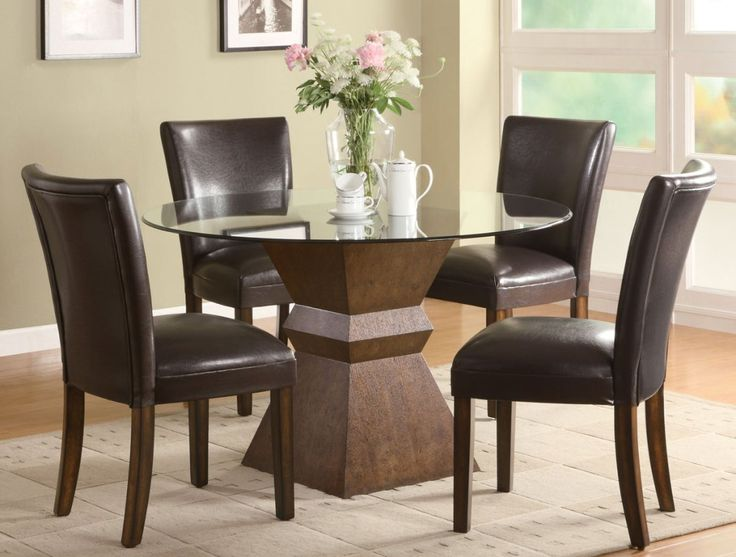 Kitchen: Awesome Glass Dining Table Set Walmart Also Glass Kitchen Table  And Chairs From Modern Part 42
