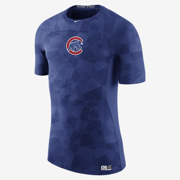 $49.97 - Nike Pro AC HyperCool (MLB Cubs) Men's Short Sleeve Top - REPRESENT YOUR TEAM The Nike Pro AC HyperCool (MLB Cubs) Men's Short Sleeve Top features targeted mesh and temperature-regulating fabric for breathability and enhanced cooling during training or competition. Benefits HyperCool Technology for advanced cooling Ergonomic seams allow natural movement Mesh panels enhance breathability Product Details Fabric: 89% polyester/11% spandex Machine wash Imported