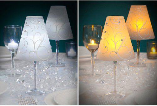 30 best purple birthday images on pinterest purple for Wine glass lamp centerpiece
