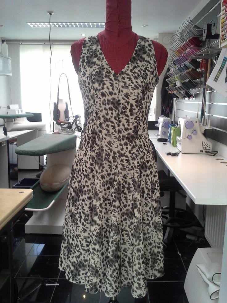 Voile cirkel jurk