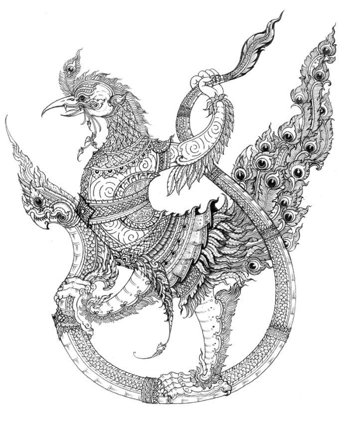 ภาพลายเส นส ตว ห มพานต ศ ลปะเคลต ก ศ ลปะฮ ลโลว น ศ ลปะชนบท