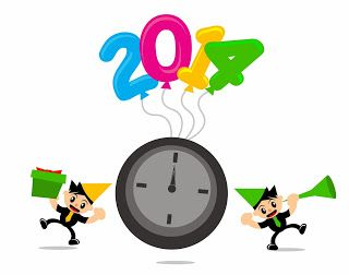Free Vector of New Year 2014 Themes Cartoon Character (version 111113).