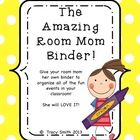 Get ready to help your Room Mom get ORGANIZED!  What a great way to say THANK YOU for volunteering to your new room mom!    This binder was designe...