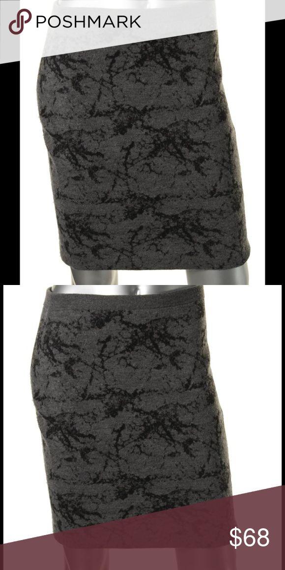"EILEEN FISHER Gray Merino Wool Pattern Skirt NEW WITH TAGS.  EILEEN FISHER  Ash-Gray Merino Wool Pattern Mini Pencil Skirt Size: LARGE Retail: $158.00 Length: 20"" Waist Across: 17"" Hips Across: 19"" 49% Merino Wool/43% Cotton/7% Nylon/1% Spandex Eileen Fisher Skirts Pencil"